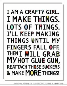 Amen! My form of creativity! It gives me a high to do it! My addiction... ;)