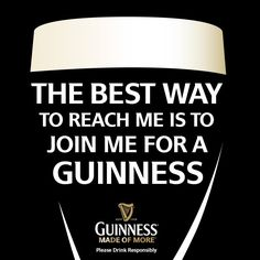 Guinness--have a pint with me