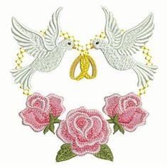 machine embroidery wedding ring designd