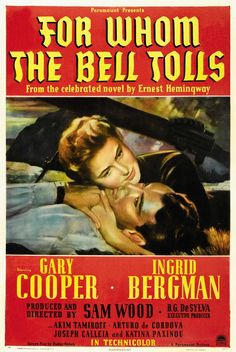 """1943 - Place 6 - """"For Whom The Bell Tolls"""" Sam Wood"""
