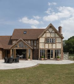 With a location as spectacular as this there is a responsibility to deliver a property that will positively contribute to the landscape for centuries to come. Build My Own House, Building A House, House Extension Design, House Design, Barn Conversion Interiors, Border Oak, Oak Frame House, Rustic Home Design, Timber House