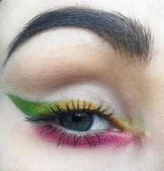 Rainbow eyeliner makeup spring