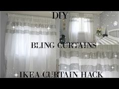 DIY CURTAINS | TOTALLY DAZZLED DIY BLING CURTAINS | IKEA CURTAIN HACK - YouTube