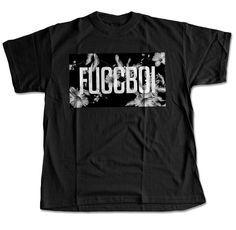 Fuccboi Mono-Floral T-Shirt (Black) – Digital Threads