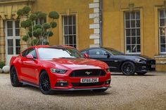 The latest Ford Mustang, which for the first time is available in RHD, is the UK's favourite performance coupe, beating the Jaguar F-Type in to second place 2015 Ford Mustang, Ford Mustang Electric, Neuer Ford Mustang, Jaguar F Type, Cars Uk, Electric Cars, Car Photos, News, Cars