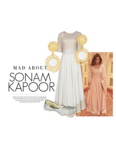 'Sonam Kapoor' by me on Limeroad featuring Non Precious Gold Earrings