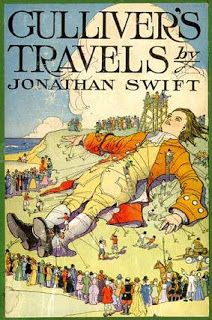 Gulliver's Travels by Jonathan Swift - Gulliver's Travels describes the four fantastic voyages of Lemuel Gulliver, a kindly ship's surgeon.