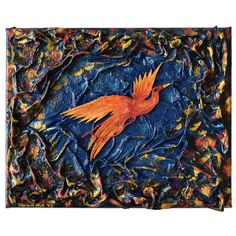 Fire-bird (Tűzmadár) - 30 x 24 cm, 2018 #paverpol #textile #textil #acrylic #akril #vivienholl #fire #firebird #tűzmadár Techno, Tapestry, Fire, Halloween, Hanging Tapestry, Tapestries, Techno Music, Needlepoint, Wallpapers