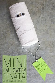 Make this Mini Halloween Pinata as a super inexpensive favor or gift!