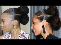 Alicia Keys Inspired Natural Hair Updo [Video] - Black Hair Information