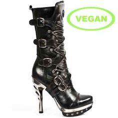 mpunk001-vc1 New Rock Vegan Spike Heel Punk Goth Boots