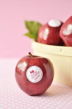 valentine's day apple.