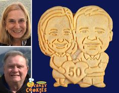 Make your 50th wedding anniversary party extra special with custom cookies from Parker's Cookies. Party favors don't come any more adorable or taste any better!