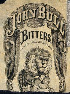 Commercial label of John Bull Bitters - lion.