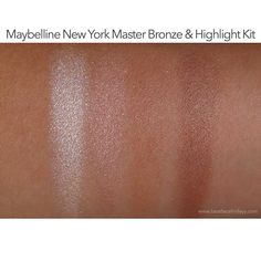 Maybelline Master Bronze Highlight Kit Swatch First Impressions – beatfacefridayy