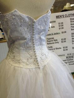 SNAP often has some lovely wedding gowns in our Shop at great prices. Come and check it out!