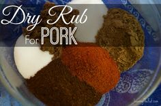 Dry Rub for Pork | Smoked Pulled Pork on the Big Green egg. This is an easy rub to throw together and keep in your spice cabinet. it stops easily in an air tight container for months. Perfect for ribs, pulled pork and other smoked or grilled pork recipes.  www.leavingtherut.com