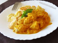 Pollo en salsa de zanahoria - http://www.monstruorecetas.es/2016/09/pollo-en-salsa-de-zanahoria.html