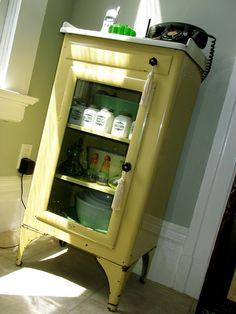 Vintage Industrial White Enamel Zinc Gray Dental Cabinet | Gray, Vintage  And Antiques