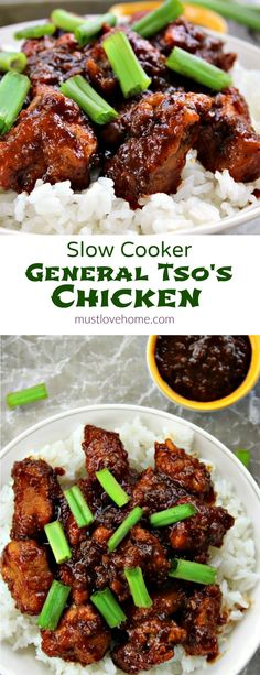 Slow Cooker General Tso's Chicken is a favorite Chinese take out dish that is crazy easy to make at home and this tastes even better! Your family will not be able to get enough!