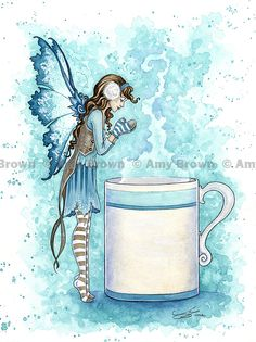 PRINTS-OPEN EDITION - Coffee and Tea Faeries - Amy Brown Fairy Art - The…