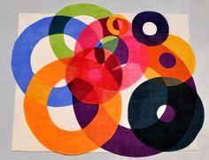 Tapetes coloridos de formas inovadoras de Sonya Winner. BricoDecoracao.com