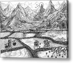 Scenery Of South China Acrylic Print By Evelyn Sichrovsky