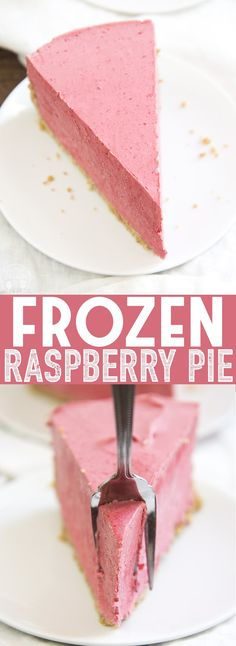 frozen raspberry pie is the perfect cold summer dessert! Its creamy, refres. This frozen raspberry pie is the perfect cold summer dessert! Its creamy, refres.This frozen raspberry pie is the perfect cold summer dessert! Its creamy, refres. Easy Summer Desserts, Summer Dessert Recipes, Fruit Recipes, Sweet Recipes, Raspberry Desserts, Köstliche Desserts, Frozen Desserts, Delicious Desserts, Raspberry Cake
