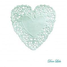 Toalhas de Papel Rendadas Coração