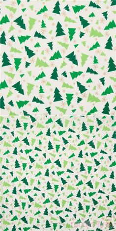 cream shirting cotton fabric with tossed mini green firs and super tiny snowflakes, with metallic gold embellishment, 100% cotton, high quality fabric from Japan #Cotton #Items #JapaneseFabrics