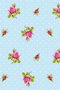 PiP Roses and Dots Blauw behang | PiP Studio © wallpaper