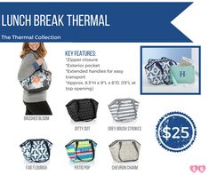 Available in snack, lunch and family sizes, our thermals make packing food a breeze for work, school and spring outings!