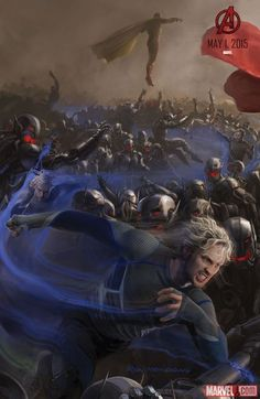 Quicksilver concept art from Marvel's Avengers: Age of Ultron by Ryan Meinerding
