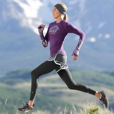 LOVE this whole outfit for running!!! Long Sleeve Stride Top   Athleta