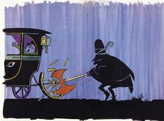 """Illustration from the children's book """"The Three Robbers"""" by Tomi Ungerer"""