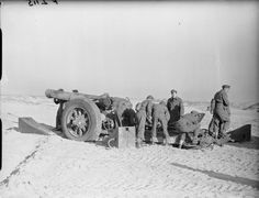 BRITISH ARMY FRANCE 1940 (F 2115)   8-inch howitzer of 1st Heavy Regiment near Calais, 12 January 1940.