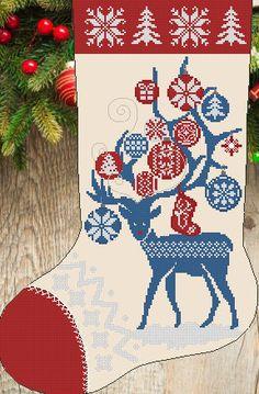 holiday family stocking robin gift Robin Print Christmas Stocking christmas decor stocking filler bird print christmas