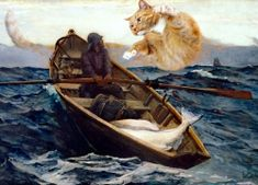 Step-By-Step Boat Plans - . - Master Boat Builder with 31 Years of Experience Finally Releases Archive Of 518 Illustrated, Step-By-Step Boat Plans Winslow Homer Paintings, Huge Cat, Spanish Art, Fat Cats, Medieval Art, Russian Art, Boat Plans, French Art, Ancient Art
