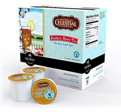 Celestial Perfect Iced Tea Southern Sweet Keurig KCups 16 Count * Click on the image for additional details.