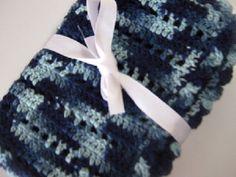 Blue baby blanket crochet