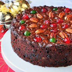 Old English Dark Fruit Cake... It's a real old English style, dense, dark fruitcake...
