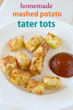 Homemade Mashed Potato Tater Tots can be baked, fried or even cooked in an air fryer. They're the best toddler snack when it comes to potatoes.