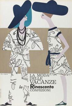 By Lora Lamm (born 1928), ca 1960, La moda delle vacanze - la Rinascente Confezioni. (I)