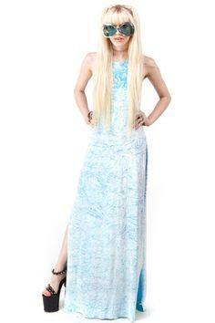 Blue Dreams Crushed Velvet Dress - XS/S