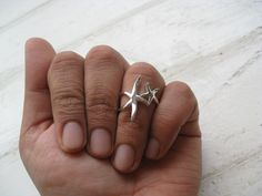 Mother & Baby Starfish Ring on Etsy, $29.00