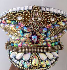 Unicorn Wings Rainbow Captain Hat Crystallised Russian