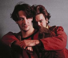 Keanu Reeves & River Phoenix on ''My Own Private Idaho'' too cute