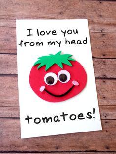 This DIY Father's Day Tomato Card is fun and easy to make with our free printable template to to let Dad know how much he is loved! perfect fathers day gift, first fathers day gifts from kids, fathers day surprise Kids Fathers Day Crafts, Fathers Day Art, Fathers Day Presents, Fathers Day Ideas, Mothers Day Cards Craft, First Fathers Day, Dad Gifts, Mothers Day Gifts Easy, Stepdad Fathers Day Gifts