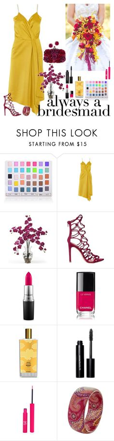 """""""Always a Bridesmaid: Golden beauty"""" by fashion-nova ❤ liked on Polyvore featuring Shany, Victoria Beckham, Nearly Natural, Alexander McQueen, ALDO, MAC Cosmetics, Chanel, Memo Paris, Bobbi Brown Cosmetics and Sigma"""