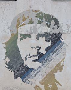 portrait Che Guevara street art Cuba La Havane